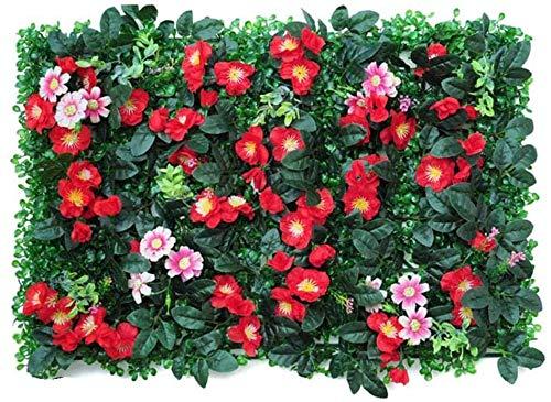 JIAFENG Paneles de Hojas Artificiales Que Cubren Las Plantas Cerca del Panel de Cobertura Pantalla de privacidad Hoja Artificial Topiary, Cerca del jardín Verde de Cobertura Panel Inferior de la