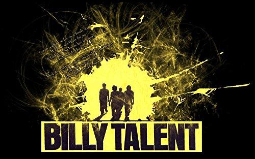 Twenty-three Billy Talent Silk Fabric Canvas Poster Print 24X36 Inchsilk Poster Wall Decor