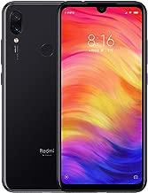 Xiaomi Redmi Note 7 Smartphones de 6.3'' Pantalla Completa, 4GB RAM + 128GB ROM, Snapdragon 660 procesador Octa-Core, 13MP Delantero y 48MP + 5MP Doble cámara Trasera Teléfonos móviles (Negro)