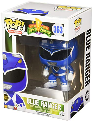 Funko-10311 Power Rangers Blue Ranger Figura de Vinilo, Multicolor, Estandar (10311)