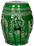 Safavieh Chinese Dragon Ceramic Decorative Garden Stool, Green