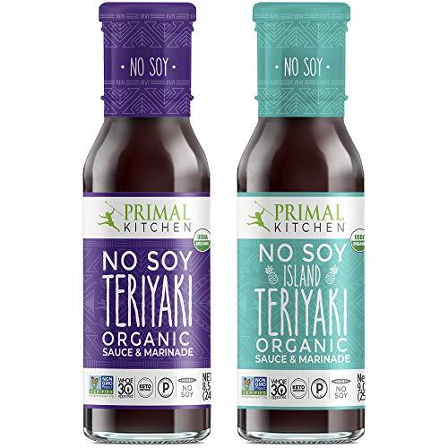 Primal Kitchen No Soy Teriyaki 2 Variety Pack, Whole 30 Approved- 1 Hawaiian Teriyaki & 1 Original No Soy Teriyaki …