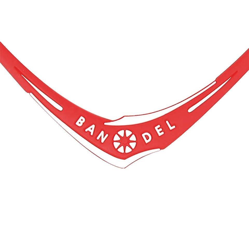 不合格言う気づくBANDEL バンデル CROSS BRACELET クロスネックレス レッドxホワイト