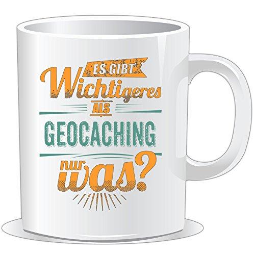 getshirts - Rahmenlos® Geschenke - Tasse - Sportart Geocaching - es gibt wichtigeres als - Petrol - Uni Uni