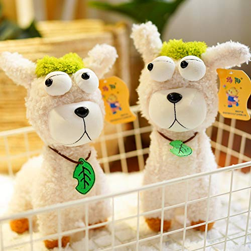 N / A Lovely 25cm Cartoon Alpaca Plush Doll Toy Fabric Sheep Animal de Peluche Suave Regalo de cumpleaños de Felpa para bebés y niños 25CM