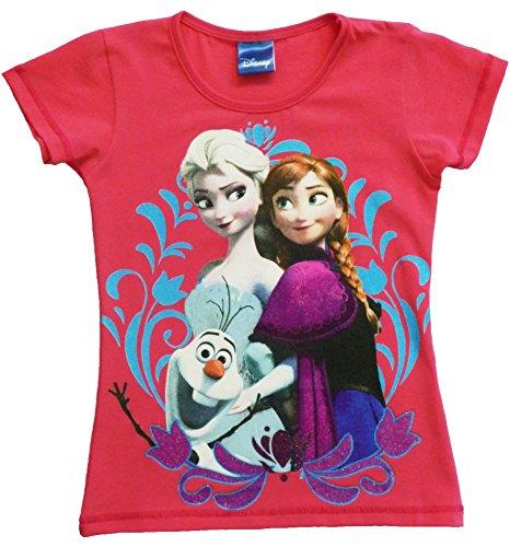 Frozen - Die Eiskönigin T-Shirt (128/134, rosa)