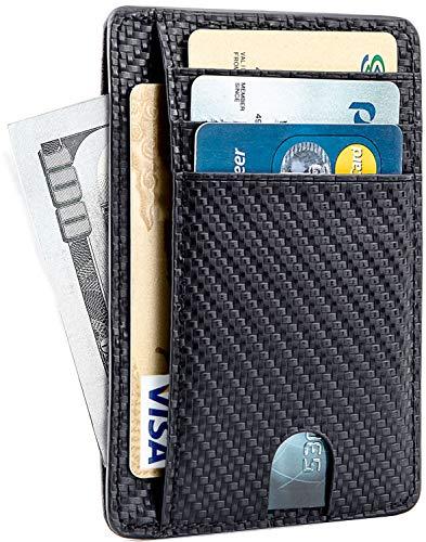 MaxGear Genuine Leather Credit Card Wallet Leather Credit Card Holder Wallet Card Organizer for Women Men