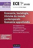 Economie, Sociologie, Histoire du monde contemporain, Economie approfondie - ECE 1re année - Economie approfondie - ECE 1