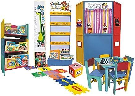 Brinquedoteca Com Móveis - Educativa Em Madeira - Multicolorido - Ciabrink