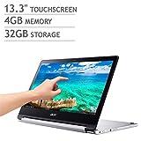 2018 Flagship Acer R13 13.3' Full HD IPS Touchscreen 2-in-1 Chromebook - MediaTek MT8173 Quad-Core 4GB RAM 32GB SSD PowerVR GX6250 USB 3.1 Type C HDMI upto12hrBatteryLife 802.11ac Webcam Chrome OS
