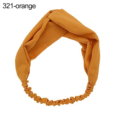 Beiguoxia le meilleur mais que vintage Croix Floral Turban élastique Bandeau Cheveux Hoop Décor Twisted Head Wrap – 324 Blanc