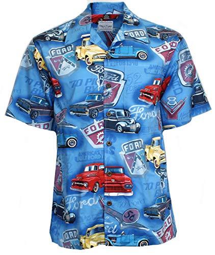 Ford Logo Trucks Camp Shirt, M