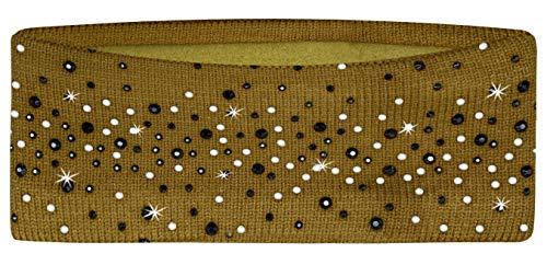 PiriModa dames hoofdband strass fleece oorwarmer winter hoofdband haarband
