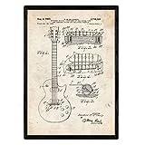 Nacnic Gitarren-Plakat-Patent. Blatt mit altem