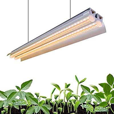 Monios-L T5 LED Grow Light, Full Spectrum Sunlight Replacement, High Output Integrated Fixture with Reflector Combo for Indoor Plants,Hydroponics,Seedling,Growing,Blooming