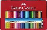 Faber-Castell 112435 - Estuche de metal con 36 lápices triangulares, escolares, de...