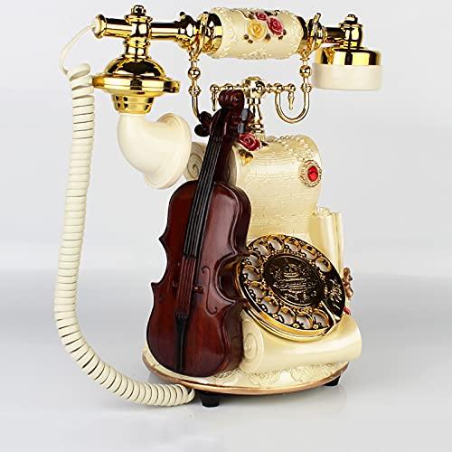 TeléFono Fijo Vintage Antiguo,Decoracion Casa Vintage,TeléFono de Escritorio Para Oficina en Casa,Puede Volver a Marcar y Rotar Diales,con Campana de Metal CláSica,pa(Color:Estilo giratorio de bronce)