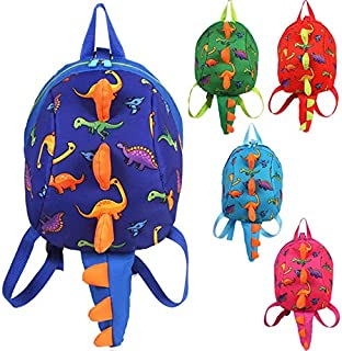 GMKJ Children's Cartoon Backpack Small Dinosaur Package Traction Rope Shoulder Bag Children's Backpack (Color : Blue)