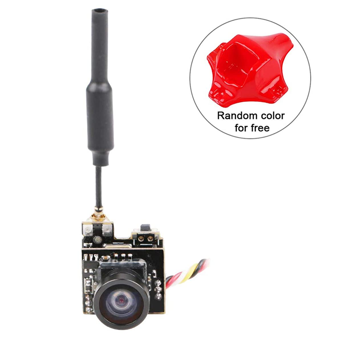 Crazepony FPV Micro AIO Camera 5.8G 40CH 25mW Video Transmitter VTX Switchable Raceband Support OSD FOV 150°for FPV Drone Like Blade Inductrix Tiny Whoop etc