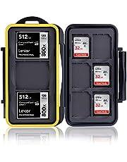 Ares Foto® MC-SD6CF3 Geheugenkaartbeschermingsbox - Geheugenkaarthoes - Kaartkluis - Tasje - Opslag en transport voor 3 CF (Compact Flash) en 6 SD-kaarten - Nieuwe versie 2020