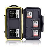 Ares Foto® MC-SD6CF3 Caja de protección de Tarjeta de Memoria para 3 Compact Flash Cards y 6 SD Cards. Estuche Protector Impermeable. Revestimiento de Goma Patentado - New Edition 2020