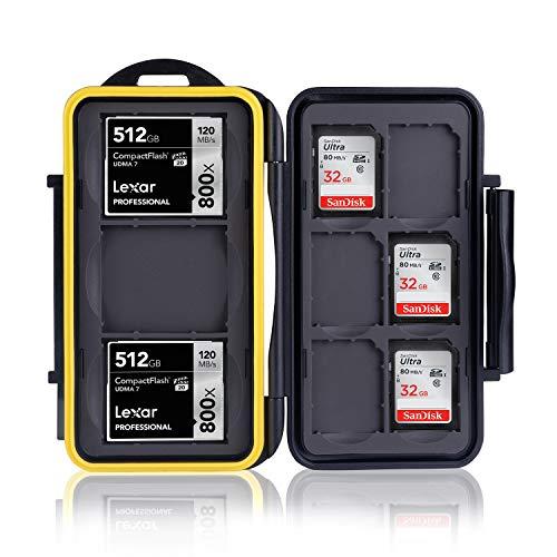 Ares Foto MC-SD6CF3 Caja de protección de tarjeta de memoria para 3 Compact Flash Cards y 6 SD Cards - New Edition 2017