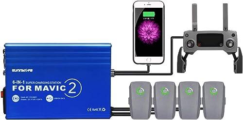 buen precio Hensych 6 en 1 Hub de Carga de de de batería múltiple Cargador rápido Inteligente para dji Mavic 2 Quadcopter   Control Remoto   Teléfono móvil  despacho de tienda