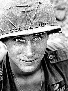 PhotoSight WAR is Hell Unknown Soldier Vietnam 1965 Retro BW 24x18 Print Poster