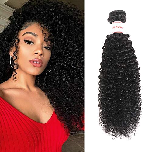 Ailisi Brazilian Virgin Kinky Curly Hair 1 Bundle 8A Unprocessed Brazilian Curly Human Hair Weave Weft (14 inch)