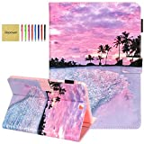 Galaxy Tab A 9.7 Case T550, Elepower Slim Fit Premium PU Leather Folio Stand Wallet Protective Cover with Auto Wake/Sleep for Samsung Galaxy Tab A 9.7 SM-T550 2015 Release, Hot Beach