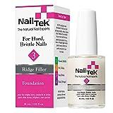 Nail Tek Foundation 3, Ridge Filling Strengthening Base Coat for Hard and Brittle Nails, 0.5 oz, 1-Pack