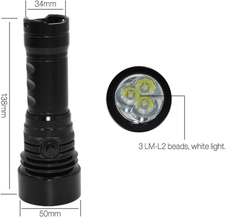 Dive Fackel Taktische LED-Taschenlampen Laterne Lampe 200M Unterwasserfotografie Wasserdichtes Helles Licht,Nobattery