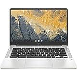 Newest HP 14inch Chromebook, Intel Quad-Core Pentium Silver N5000 Processor Up to 2.70Ghz, 4GB Memory, 64GB SSD Storage, Webcam, WiFi, Bluetooth, Chrome OS(Renewed) (14'/ N5000/ 64GB)