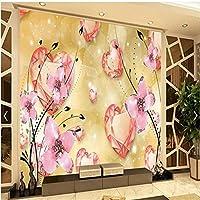 XSJ 温かみのあるラインを愛する壁紙壁紙パレード3Dテレビ契約大型壁画壁紙家の装飾-320X240CM