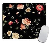 秋のマウスパッド長方形のマウスパッド美しいデザイン花のマウスパッドかわいいギフトオフィス