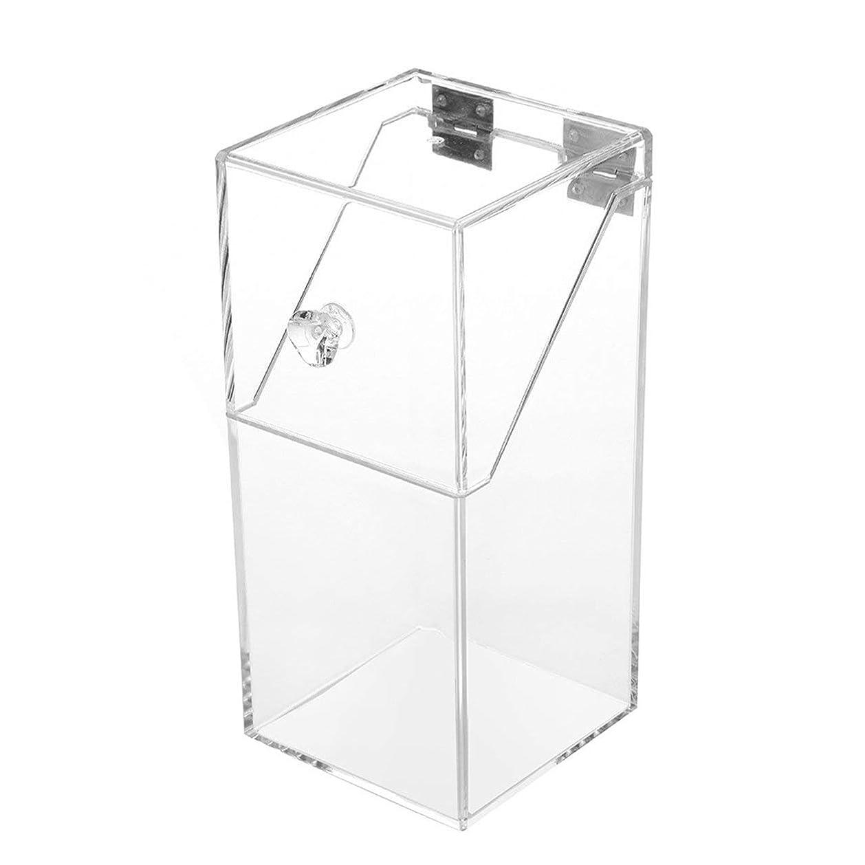 落とし穴液化する凝視Saikogoods 透明アクリルメイクアレンジストレージボックスシンプルなデザイン透明卓上化粧ブラシホルダーオーガナイザーケース トランスペアレント L