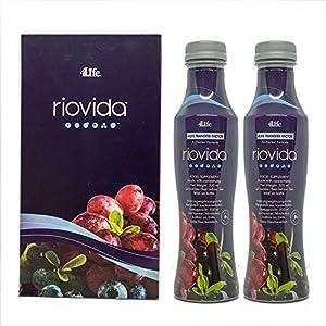 4Life Transfer Factor RioVida Tri-Factor Formula - 2 botellas de 500 ml cada una - contiene calostro y una fusión de jugos (açaí, granada, arándano y baya del saúco)