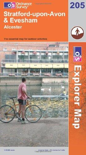 OS Explorer map 205 : Stratford-upon-Avon & Evesham