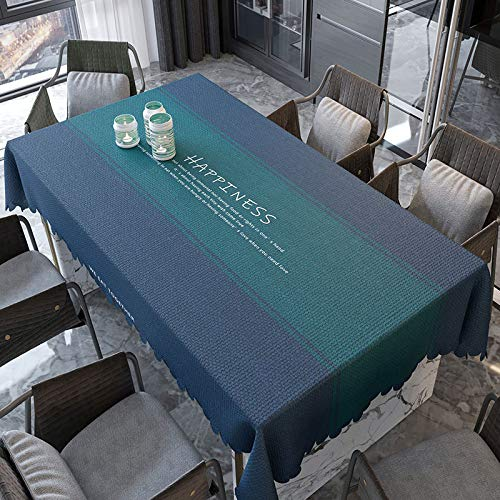 XIAOE Wipe Clean Tablecloths Rectangular Pvc Fabric Table Cover Wipe Waterproof Thicken Table Cloth Oil Proof Printed Tablecloth Dining Table Living Room Outdoor Restaurant 120 * 160cm