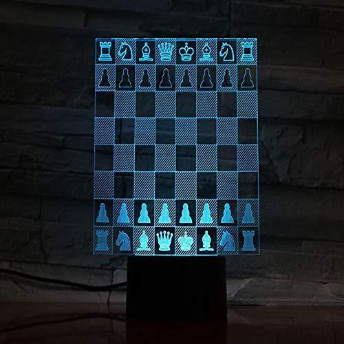 Mesa Dormitorio Lámpara Ajedrez Multicolor Rgb Luces Decorativas Sensor Táctil Regalo Bebé Luz De Noche Decoración Luz De Noche Led