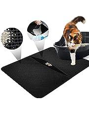LOETAD Cat Litter Mat Estera de Arena Gato Alfombra de Basura Impermeable Trapping Mat 55x70cm de Doble Capa Fácil de Limpiar