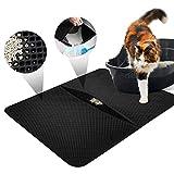 LOETAD Cat Litter Mat Estera de Arena Gato Alfombra de Basura Impermeable Trapping Mat 55x70cm de Doble Capa Fcil de Limpiar