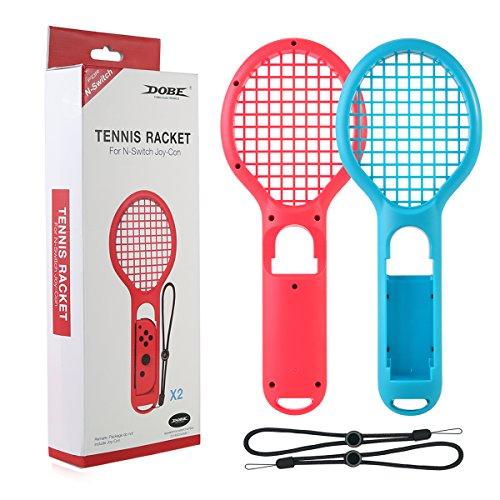Oenbopo Twin Pack racchetta da tennis per Nintendo interruttore joy-con controller, accessori per n-switch joy-con Game Mario tennis Aces–nero e rosso