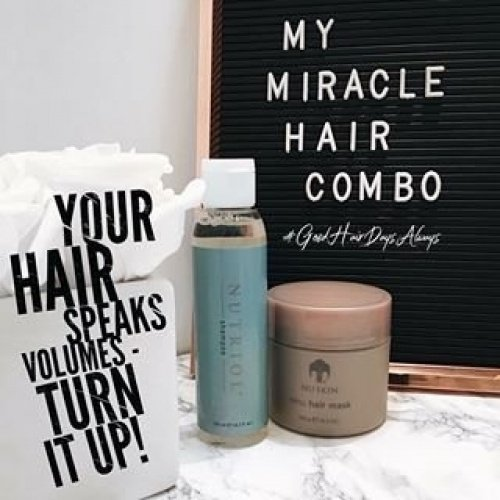 Nu Skin Renu Cheveux Masque + Nutriol Shampooing Money Saver Combo Pack avec option de traitement Fitness Cheveux