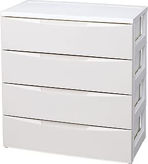 アイリスオーヤマ チェスト ルーム 4段 幅72×奥行41.5×高さ80.5cm ホワイト / アイボリー 白 プラスチック RC-724