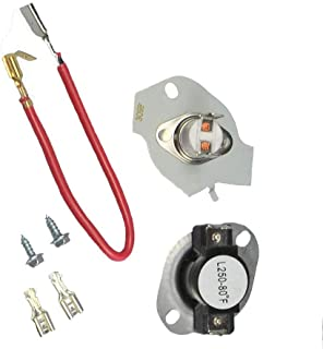 Thermostat Kit Replacement For 279816 Dryer Whirlpool Kenmore Maytag Roper KitchenAid Dryer Instructions Included Replaces 3399848 3977393 AP3094244 PS334299