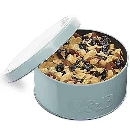 Cartwright & Butler Cherry and Almond Fruit Cake | Moist Fruit Cake with Generous Chunks of Cherries and Almonds | Presented in a Signature Round Loaf Tin | Perfect Gift - Cherry and Almond