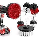 Trapano a spazzola, 6 pezzi/set spazzola rotante pulizia per bagni, piastrelle, tappeto auto, depuratore elettronico, spazzola di pulizia morbida e dura