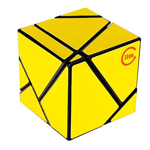 EasyGame Magic Cube Ghost Cube 2x2 Velocidad Twist Puzzle DIY Brain Teaser Oro