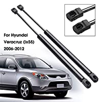 車用リアダンパー 2ピース455mmフロントフードリフトサポートブーストストラットショックガス充電ダンパーためにHyundai Veracruz IX55 2006-2012 ショックダンパーリフトサポート
